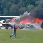 Dale Earnhardt Jr Suffers Fiery Plane Crash, Wife, Child and Dog Were On Board