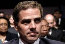 Hunter Biden in an auditorium