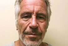 An up-close photo of Jeffrey Epstein